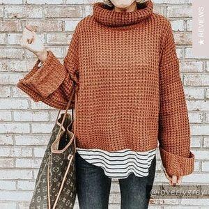 Goodnight Macaroon Retta Cognac Sweater
